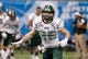 Dec 23, 2013; St. Petersburg, FL, USA; Ohio Bobcats wide receiver Brendan Cope (85) against the East Carolina Pirates works out prior to the game during the 2013 Beef O Bradys Bowl at Tropicana Field. Mandatory Credit: Kim Klement-USA TODAY Sports