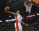 Jan 19, 2014; Toronto, Ontario, CAN; Toronto Raptors guard DeMar DeRozan (10) goes to dunk the ball against the Los Angeles Lakers during the first half at the Air Canada Centre. Mandatory Credit: John E. Sokolowski-USA TODAY Sports