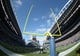 Sep 22, 2013; Seattle, WA, USA; General view of the goal posts at CenturyLink Field during the game between the Jacksonville Jaguars and the Seattle Seahawks. The Seahawks defeated the Jaguars 45-17. Mandatory Credit: Kirby Lee-USA TODAY Sports