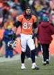 Dec 8, 2013; Denver, CO, USA; Denver Broncos wide receiver Eric Decker (87) in the second quarter against the Tennessee Titans at Sports Authority Field at Mile High. Mandatory Credit: Ron Chenoy-USA TODAY Sports