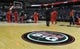 Jan 20, 2014; Washington, DC, USA; General view of NBA Dream Big logo on the court for Martin Luther King Jr. Day before the game between the Philadelphia 76ers and Washington Wizards during the first half at Verizon Center. Mandatory Credit: Brad Mills-USA TODAY Sports