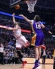 Jan 20, 2014; Chicago, IL, USA; Chicago Bulls center Joakim Noah (13) shoots the ball against Los Angeles Lakers center Pau Gasol (16) during the second half at United Center. The Bulls defeat the Lakers 102-100 in overtime. Mandatory Credit: Mike DiNovo-USA TODAY Sports