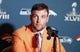 Jan 26, 2014; Jersey City, NJ, USA;  Denver Broncos wide receiver Wes Welker addresses the media during press conference at the Cornucopia Majesty Ship. Mandatory Credit: Jim O'Connor-USA TODAY Sports