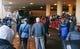 Jan 26, 2014; Jersey City, NJ, USA;  Denver Broncos arrive at the Hyatt Regency hotel. Mandatory Credit: Jim O'Connor-USA TODAY Sports