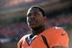 January 19, 2014; Denver, CO, USA; Denver Broncos running back Knowshon Moreno (27) before the game against the New England Patriots in the 2013 AFC Championship football game at Sports Authority Field at Mile High. Mandatory Credit: Ron Chenoy-USA TODAY Sports