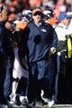 January 19, 2014; Denver, CO, USA; Denver Broncos head coach John Fox during the first half against the New England Patriots in the 2013 AFC Championship football game at Sports Authority Field at Mile High. Mandatory Credit: Ron Chenoy-USA TODAY Sports