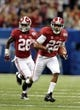 Jan 2, 2014; New Orleans, LA, USA; Alabama Crimson Tide wide receiver Christion Jones (22) returns a punt against the Oklahoma Sooners during the second half of the Sugar Bowl at the Mercedes-Benz Superdome. Mandatory Credit: Chuck Cook-USA TODAY Sports