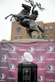 Feb 1, 2014; Tallahassee, FL, USA; The BCS Coaches' trophy on display during the National Championship Celebration for the Florida State Semioles at Doak Campbell Stadium. Mandatory Credit: Melina Vastola-USA TODAY Sports
