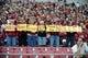 Feb 1, 2014; Tallahassee, FL, USA; Fans cheer on the Florida State Seminoles at the BCS National Championship Celebration at Doak Campbell Stadium. Mandatory Credit: Melina Vastola-USA TODAY Sports