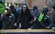 Feb 5, 2014; Seattle, WA, USA; Seattle Seahawks cornerback Richard Sherman at Super Bowl XLVIII victory parade on 4th Avenue. Mandatory Credit: Kirby Lee-USA TODAY Sports