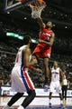 Jan 20, 2014; Auburn Hills, MI, USA; Los Angeles Clippers center DeAndre Jordan (6) makes a dunk during the first quarter against the Detroit Pistons at The Palace of Auburn Hills. Mandatory Credit: Raj Mehta-USA TODAY Sports