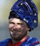 Feb 9, 2014; Glendale, AZ, USA; Los Angeles Dodgers catcher Griff Erickson (79) smiles during the first day of camp at Camelback Ranch. Mandatory Credit: Rick Scuteri-USA TODAY Sports