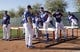 Feb 9, 2014; Glendale, AZ, USA; Los Angeles Dodgers pitchers and catchers run drills during the first day of camp at Camelback Ranch. Mandatory Credit: Rick Scuteri-USA TODAY Sports