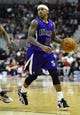 Feb 9, 2014; Washington, DC, USA; Sacramento Kings point guard Isaiah Thomas (22) dribbles against the Washington Wizards during the second half at Verizon Center. The Wizards defeated the Kings 93 - 84. Mandatory Credit: Brad Mills-USA TODAY Sports