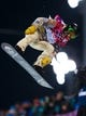 Feb 11, 2014; Krasnaya Polyana, RUSSIA; Shaun White (USA) on his first run in the mens snowboard half pipe final during the Sochi 2014 Olympic Winter Games at Rosa Khutor Extreme Park. Mandatory Credit: Guy Rhodes-USA TODAY Sports