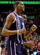 Feb 11, 2014; Portland, OR, USA; Oklahoma City Thunder small forward Kevin Durant (35) reacts after the Thunder defeat the Portland Trail Blazers 98-95 at the Moda Center. Mandatory Credit: Craig Mitchelldyer-USA TODAY Sports