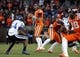 Oct 26, 2013; Blacksburg, VA, USA; Virginia Tech Hokies quarterback Logan Thomas (3) drops back to pass against the Duke Blue Devils at Lane Stadium. Mandatory Credit: Peter Casey-USA TODAY Sports