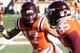 Oct 26, 2013; Blacksburg, VA, USA; Virginia Tech Hokies cornerback Kyle Fuller (17) before the game against the Duke Blue Devils at Lane Stadium. Mandatory Credit: Peter Casey-USA TODAY Sports