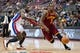 Feb 12, 2014; Auburn Hills, MI, USA; Cleveland Cavaliers shooting guard Dion Waiters (3) goes to the basket against Detroit Pistons point guard Will Bynum (12) during the third quarter at The Palace of Auburn Hills. Cleveland won 93-89. Mandatory Credit: Tim Fuller-USA TODAY Sports