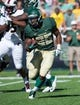 Sep 21, 2013; Waco, TX, USA; Baylor Bears running back Lache Seastrunk (25) during the game against the UL Monroe Warhawks at Floyd Casey Stadium. The Bears defeated the Warhawks 70-7. Mandatory Credit: Jerome Miron-USA TODAY Sports