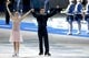 Feb 17, 2014; Sochi, RUSSIA; Scott Moir and Tessa Virtue (CAN) celebrate winning the silver medal in ice dance free dance program during the Sochi 2014 Olympic Winter Games at Iceberg Skating Palace. Mandatory Credit: Jeff Swinger-USA TODAY Sports