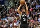 February 18, 2014; Los Angeles, CA, USA; San Antonio Spurs shooting guard Marco Belinelli (3) shoots a basket against the Los Angeles Clippers during the second half at Staples Center. Mandatory Credit: Gary A. Vasquez-USA TODAY Sports