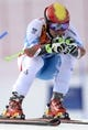 Feb 19, 2014; Krasnaya Polyana, RUSSIA; Marcel Hirscher (AUT) competes in the first run of men's giant slalom during the Sochi 2014 Olympic Winter Games at Rosa Khutor Alpine Center. Mandatory Credit: Jack Gruber-USA TODAY Sports