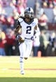 Oct 5, 2013; Norman, OK, USA; TCU Horned Frogs cornerback Jason Verrett (2) warms up before the game against the Oklahoma Sooners at Gaylord Family - Oklahoma Memorial Stadium. Mandatory Credit: Tim Heitman-USA TODAY Sports