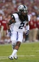 Oct 5, 2013; Norman, OK, USA; TCU Horned Frogs cornerback Jason Verrett (2) looks into the backfield during the game against the Oklahoma Sooners at Gaylord Family - Oklahoma Memorial Stadium. Mandatory Credit: Tim Heitman-USA TODAY Sports