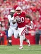 Sep 21, 2013; Madison, WI, USA;  Wisconsin Badgers running back James White (20) during the game against the Purdue Boilermakers at Camp Randall Stadium. Mandatory Credit: Jeff Hanisch-USA TODAY Sports