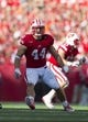 Sep 21, 2013; Madison, WI, USA;  Wisconsin Badgers linebacker Chris Borland (44) during the game against the Purdue Boilermakers at Camp Randall Stadium. Mandatory Credit: Jeff Hanisch-USA TODAY Sports