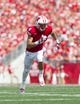 Aug 31, 2013; Madison, WI, USA; Wisconsin Badgers wide receiver Jared Abbrederis (4) during the game against the Massachusetts Minutemen at Camp Randall Stadium. Mandatory Credit: Jeff Hanisch-USA TODAY Sports