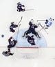 Feb 22, 2014; Sochi, RUSSIA; Finland forward Jussi Jokinen (36) tries to find the puck as USA players Ryan McDonagh (27) , Ryan Kesler (17) , Zach Parise (9) , Jonathan Quick (32) and Brooks Orpik (44) defend the net in the men's ice hockey bronze medal game during the Sochi 2014 Olympic Winter Games at Bolshoy Ice Dome. Mandatory Credit: Winslow Townson-USA TODAY Sports