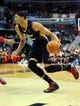 Feb 22, 2014; Washington, DC, USA; New Orleans Pelicans forward Anthony Davis (23) moves the ball in the first quarter against the Washington Wizards at Verizon Center. Mandatory Credit: Evan Habeeb-USA TODAY Sports