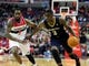 Feb 22, 2014; Washington, DC, USA; New Orleans Pelicans guard Anthony Morrow (3) is defended by Washington Wizards forward Martell Webster (9) at Verizon Center. Mandatory Credit: Evan Habeeb-USA TODAY Sports