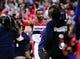 Feb 22, 2014; Washington, DC, USA; Washington Wizards guard John Wall (2) celebrates after beating the New Orleans Pelicans 94-93 at Verizon Center. Mandatory Credit: Evan Habeeb-USA TODAY Sports