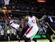 Feb 22, 2014; Washington, DC, USA; Washington Wizards guard John Wall (2) lays the ball up in the fourth quarter against the New Orleans Pelicans at Verizon Center. Mandatory Credit: Evan Habeeb-USA TODAY Sports