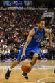 Feb 21, 2014; Philadelphia, PA, USA; Dallas Mavericks guard Devin Harris (20) during the fourth quarter against the Dallas Mavericks at the Wells Fargo Center. The Mavericks defeated the Sixers 124-112. Mandatory Credit: Howard Smith-USA TODAY Sports