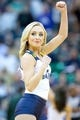 Feb 24, 2014; Salt Lake City, UT, USA; A Utah Jazz dancer performs during the second half against the Boston Celtics at EnergySolutions Arena. The Jazz won 110-98. Mandatory Credit: Russ Isabella-USA TODAY Sports