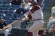 Feb 25, 2014; Tampa, FL, USA; Florida State Seminoles pitcher Brandon Johnson (51) first baseman John Nogowski (3) hits against the New York Yankees during the fourth inning at George M. Steinbrenner Field. Mandatory Credit: Kim Klement-USA TODAY Sports