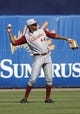 Feb 25, 2014; Tampa, FL, USA;  Florida State Seminoles pitcher/outfielder Jameis Winston (44) throws the ball during the fifth inning against the New York Yankees at George M. Steinbrenner Field. Mandatory Credit: Kim Klement-USA TODAY Sports