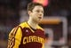 Feb 21, 2014; Toronto, Ontario, CAN; Cleveland Cavaliers guard Matthew Dellavedova (8) warms up before playing against the Toronto Raptors at Air Canada Centre. The Raptors beat the Cavaliers 98-91. Mandatory Credit: Tom Szczerbowski-USA TODAY Sports