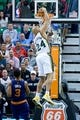 Feb 26, 2014; Salt Lake City, UT, USA; Utah Jazz small forward Richard Jefferson (24) dunks the ball during the first half against the Phoenix Suns at EnergySolutions Arena. Mandatory Credit: Russ Isabella-USA TODAY Sports