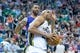 Feb 26, 2014; Salt Lake City, UT, USA; Utah Jazz small forward Richard Jefferson (24) drives to the basket in front of Phoenix Suns power forward Marcus Morris (15) during the second half at EnergySolutions Arena. The Jazz won 109-86. Mandatory Credit: Russ Isabella-USA TODAY Sports