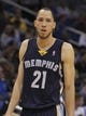 Feb 12, 2014; Orlando, FL, USA; Memphis Grizzlies small forward Tayshaun Prince (21) against the Orlando Magic during the second quarter at Amway Center. Mandatory Credit: Kim Klement-USA TODAY Sports
