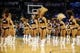 Mar 2, 2014; Oklahoma City, OK, USA; Members of the Oklahoma City Thunder dance team entertain the fans in a break in a action against the Charlotte Bobcats at Chesapeake Energy Arena. Mandatory Credit: Mark D. Smith-USA TODAY Sports