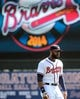 Mar 3, 2014; Lake Buena Vista, FL, USA; Atlanta Braves outfielder Jason Heyward (22) warms up before the spring training exhibition game against the New York Mets at Champion Stadium.  Mandatory Credit: Jonathan Dyer-USA TODAY Sports