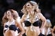 Mar 6, 2014; San Antonio, TX, USA; San Antonio Spurs cheerleaders perform during the first half against the Miami Heat at AT&T Center. Mandatory Credit: Soobum Im-USA TODAY Sports
