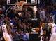 Mar 6, 2014; Phoenix, AZ, USA; Phoenix Suns forward Markieff Morris dunks the ball in the fourth quarter against the Oklahoma City Thunder at the US Airways Center. The Suns defeated the Thunder 128-122. Mandatory Credit: Mark J. Rebilas-USA TODAY Sports