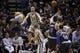 Mar 8, 2014; San Antonio, TX, USA; San Antonio Spurs guard Manu Ginobili (20) passes the ball during the second half against the Orlando Magic at AT&T Center. Mandatory Credit: Soobum Im-USA TODAY Sports